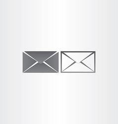 black envelope letter mail icons vector image