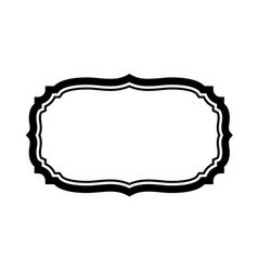 Black frame beautiful design simple vector