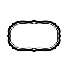Black frame beautiful design simple vector