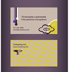 Business card layout Editable design template vector image vector image