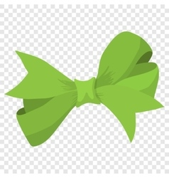 Cartoon bow green sign vector