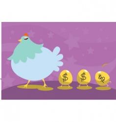 cartoon chicken icons vector image