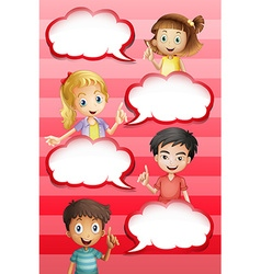 Children and bubble speeches design vector image vector image