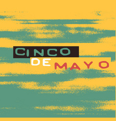 Cinco de mayo holiday poster template vector
