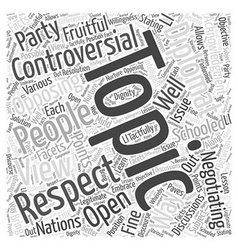 Controversial topics word cloud concept vector