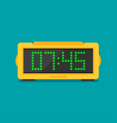 Digital clock flat icon vector