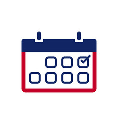 Election topic icon vector