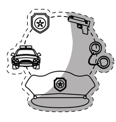 Figure police tools icon image vector