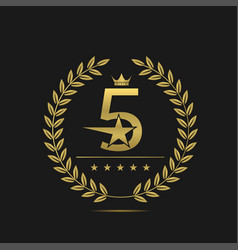 five stars label vector image