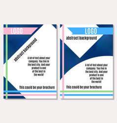 good brochure on advertising with bright elements vector image vector image