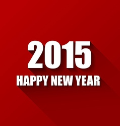 Modern red simple Happy new year card 2015 vector image vector image