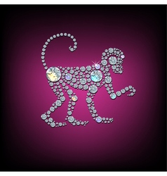 Monkey 2016 vector image