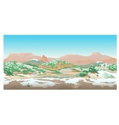 Natural desert landscape valley in early spring vector