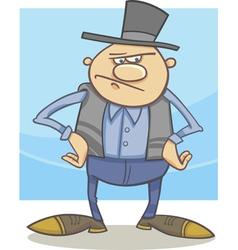 Old farmer cartoon vector