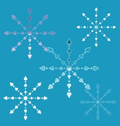 Openwork snowflakes vector