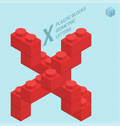 plastic blocs letter x vector image vector image