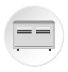 Retro electric fan icon circle vector