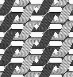 Ribbons dark and light forming horizontal vector image