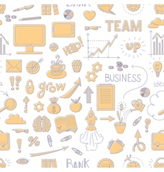Seamless business doodle pattern vector