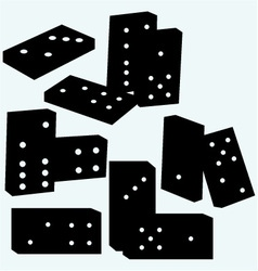 Set dominoes vector image vector image