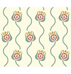 stylized floral background Retro seamless pattern vector image vector image