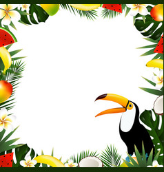 Summer tropical frame vector