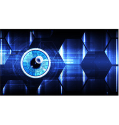 Technological cybersecurity eye scanning vector