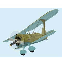 The old plane biplane vector image