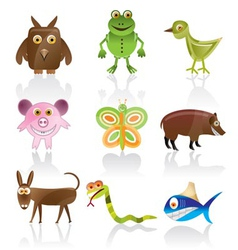 wild animal vector image vector image