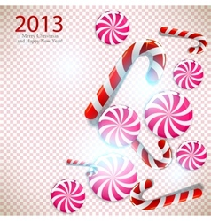 Merry christmas and happy new year 2013 background vector