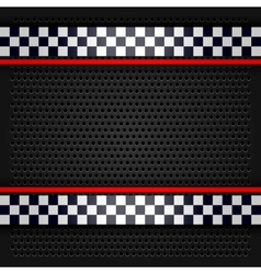 Sheet metallic perforated for race vector image