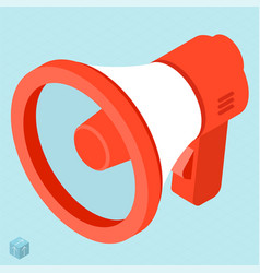 megaphone isometric icon vector image
