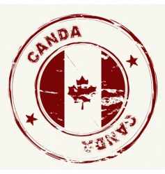 Canada ink stamp vector