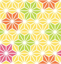 Hexagon starburst flowers vector