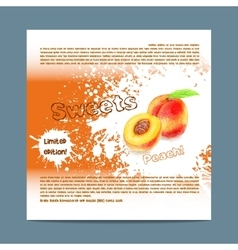 Template candy packaging peach sweets vector