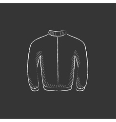 Biker jacket drawn in chalk icon vector