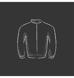 Biker jacket drawn in chalk icon vector
