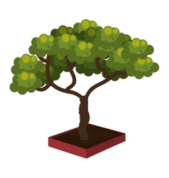 Ecology nature tree isolated icon design vector