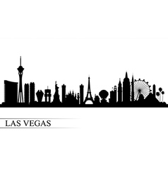 Las vegas city skyline silhouette background vector
