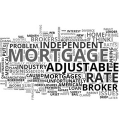 Adjustable rate mortgage snafu text word cloud vector