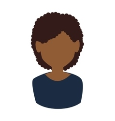 Afro woman avatar vector