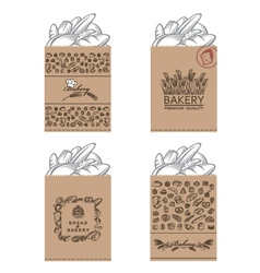 bakery packages set vector image vector image