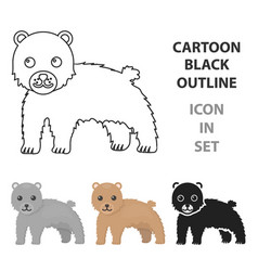 bear icon cartoon singe animal icon from the big vector image vector image