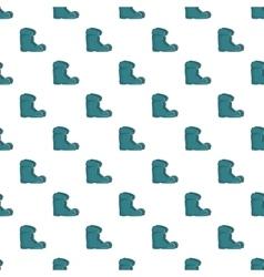 Boots pattern cartoon style vector
