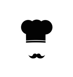 Chef hat and moustache vector
