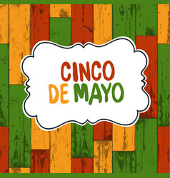 cinco de mayo 5 of may holiday background cinco vector image vector image