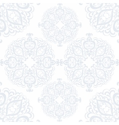 Delicate crochet lace round ornament vector image vector image