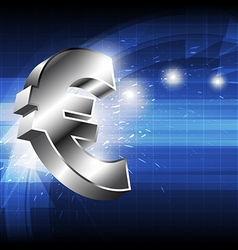 euro money icon vector image vector image