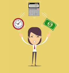 Financial advisor flat vector