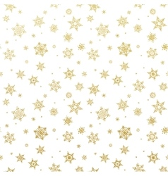 Golden Christmas snowflake EPS 10 vector image vector image